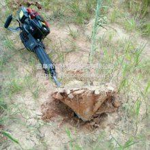 手持式带土球移植苗木断根机 富兴小型铲头式挖树机 硬土质大马力起苗机厂家