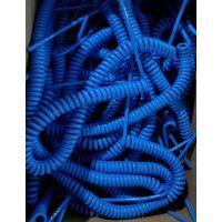 上海供应:优质PU螺旋电缆8芯弹簧线信号弹簧线