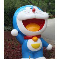 东莞原著雕塑厂家直销 机器猫动漫卡通雕像 城市公园户外超市摆件