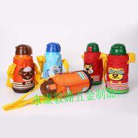 不锈钢儿童保温杯韩版创意卡通便携杯带吸管宝宝水瓶真空保温水壶