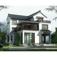 吉安别墅设计AT1769三层中式复古风格带内庭院别墅设计图纸13.2mX16.8m