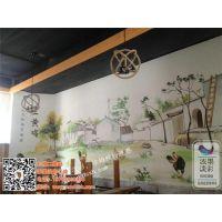 禹州餐厅手绘墙哪家好,禹州餐厅手绘墙,浓墨淡彩手绘