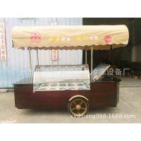 -25度雪糕移动花车冰淇淋流动车冷藏车冰棍展示柜带储存冰箱