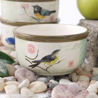 精品欧式创意家用生活釉下彩手绘陶瓷碗餐具 5寸小米饭碗 汤粉碗