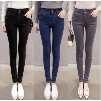 厂家库存便宜牛仔裤批发 广西来宾开店去东莞哪里有韩版时尚女士韩版牛仔裤批发