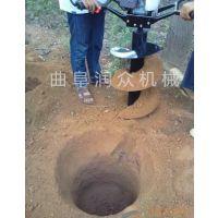 大马力拖拉机带挖坑机 硬质土地专用挖坑机 使用灵活 操作方便
