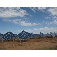 承接Q235斜单轴跟踪式太阳能支架加工