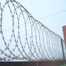 刀片刺绳立柱 刀片护栏网价格 刺网隔离栅