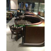 深圳市行一家具餐桌椅定制,行一餐桌餐椅款式搭配休闲沙发效果,桌椅报价图片