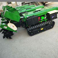 丽水柴油动力农田旋耕除草机 启航履带自走式开沟机 开沟施肥回填机价格