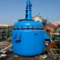 长期出售二手搪瓷反应釜 2吨搪瓷搅拌 开式对焊法兰式磁力密封