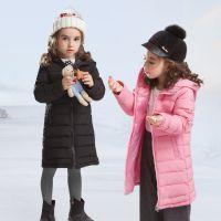 新款韩版轻薄款女童儿童装羽绒棉服中长款 江西童羽绒服儿童棉衣