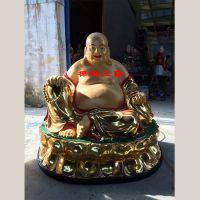 供应贴金彩绘弥勒佛坐像 树脂伽蓝菩萨 佛像价格