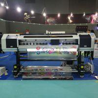 宝斯威jw-1813xuv 超透玻璃贴打印机 彩白彩同时喷绘