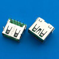 OPPO大电流 USB 9pin母座 快充输出5V3.5A 90度插件DIP L=12.5
