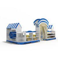 贝尔康 欧式 糖果屋组合柜 幼儿区域柜 角色扮演柜 娃娃家柜 玩具柜