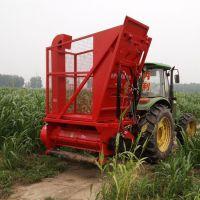 新款玉米秸秆回收机视频 牧草青储机 宏泰收割收获自卸回收机