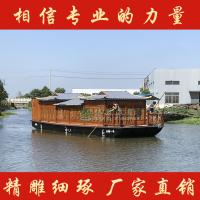 湖北宜昌出售14米水上餐饮船 餐饮画舫船 特色观光餐厅船