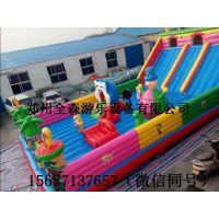 新款熊出没充气滑梯,河南郑州充气大滑梯蹦蹦床多少钱一平