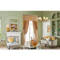 成都窗帘设计|窗帘工程|7克拉自然的美感、光泽柔和