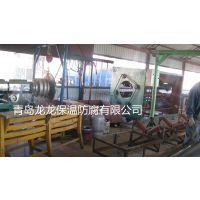 青岛宝龙 黑黄夹克塑料挤出机组 单螺杆挤出机 PE管保温管机械设备