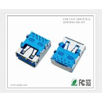 深圳厂家USB3.0AF 插板带卷边usb连接器 RJ45网口连接器 蓝色