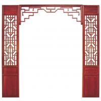 惠森古建定制古典中式实木背景墙