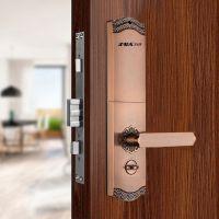 IBA艾比耳家用智能门锁FM-09S 家用指纹锁密码锁电子刷卡锁滑盖锁