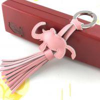 创意设计女性香包流苏钥匙扣 大象流苏金属钥匙扣链挂件定制 颜色多选