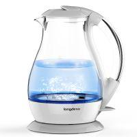 龙的 LD-K1001玻璃烧水壶 电热水壶家用自动断电耐热防爆透明快壶