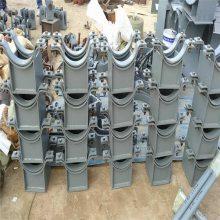 夹式滑动支座 双孔管夹 齐鑫按照D-ZD2010标准 生产
