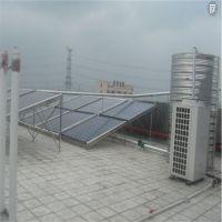 无锡东降派出所2台5匹奥栋空气能机组12组太阳能热水工程10吨恒温水箱
