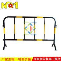 铁马护栏 黄黑围栏施工隔离铁栏 黄黑铁马 交通器材可移动防护栏