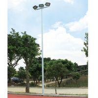 惠州村委会篮球场一拖三灯杆 球场灯光照明效果 柏克灯杆尺寸定做