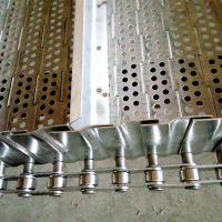 水果清洗不锈钢链板 双侧挡板有什么作用 乾德链板供应商