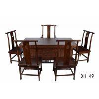 盐山老榆木茶桌、茶台实木定制批发