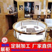 厂家定做珠宝展示柜台设计定制木质烤漆铝合金玻璃产品展示柜图片