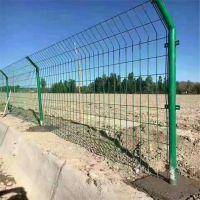 圈地围栏 绿色铁丝栅栏 园林防护用双边丝护栏