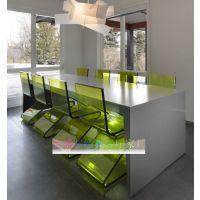 深圳德盛亚克力家具透明椅子 会议室办公椅 定制各色z形椅子
