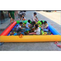 新款户外儿童移动充气水池大型长方形圆形沙滩池钓鱼池支架游泳池