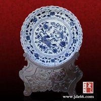 陶瓷摆盘可加工印制标志图案奖盘
