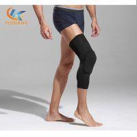 健身运动定制蜂窝护膝 莱卡面料薄款透气篮球足球防撞护腿护具 东莞运动护膝厂家