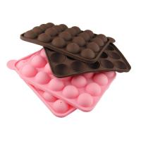 20连孔棒棒糖硅胶蛋糕模 DIY烘焙翻糖蛋糕模具冰格巧克力模具