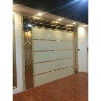 江苏苏州厂家直销 微晶石玻璃加镜条平铺简约影视墙玻璃 时尚拼镜