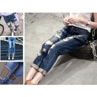 便宜女装牛仔裤批发厂家低价批发高腰弹力小脚裤浅蓝棉几元起批发