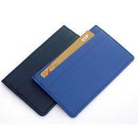 加工定制T-8956男士短款PU皮卡包 敞口皮夹卡套 卡片男式包 日式风范 广告促销