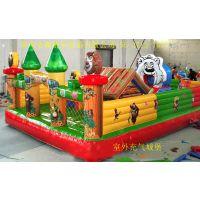 郑州全森游乐设备出售夏季新款热销大型儿童广场充气陆地城堡等其他玩具