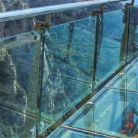 金聚进 张家界玻璃栈道不锈钢立柱BE96 不锈钢栏杆制作 设计厂家