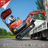 SD18Su小型挖掘机的价格 可以爬楼梯的小挖机 土地平整用小勾机 葡萄园用的山鼎微挖