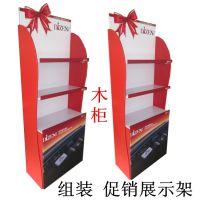 厂家直销 促销展示订做 美博会用产品展示 组装木制广告展架立式